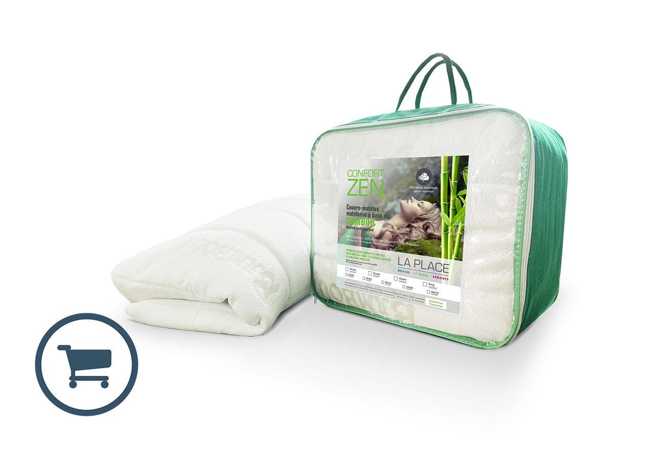 Couvre-matelas matelassé Confort Zen Bambou - LA PLACE
