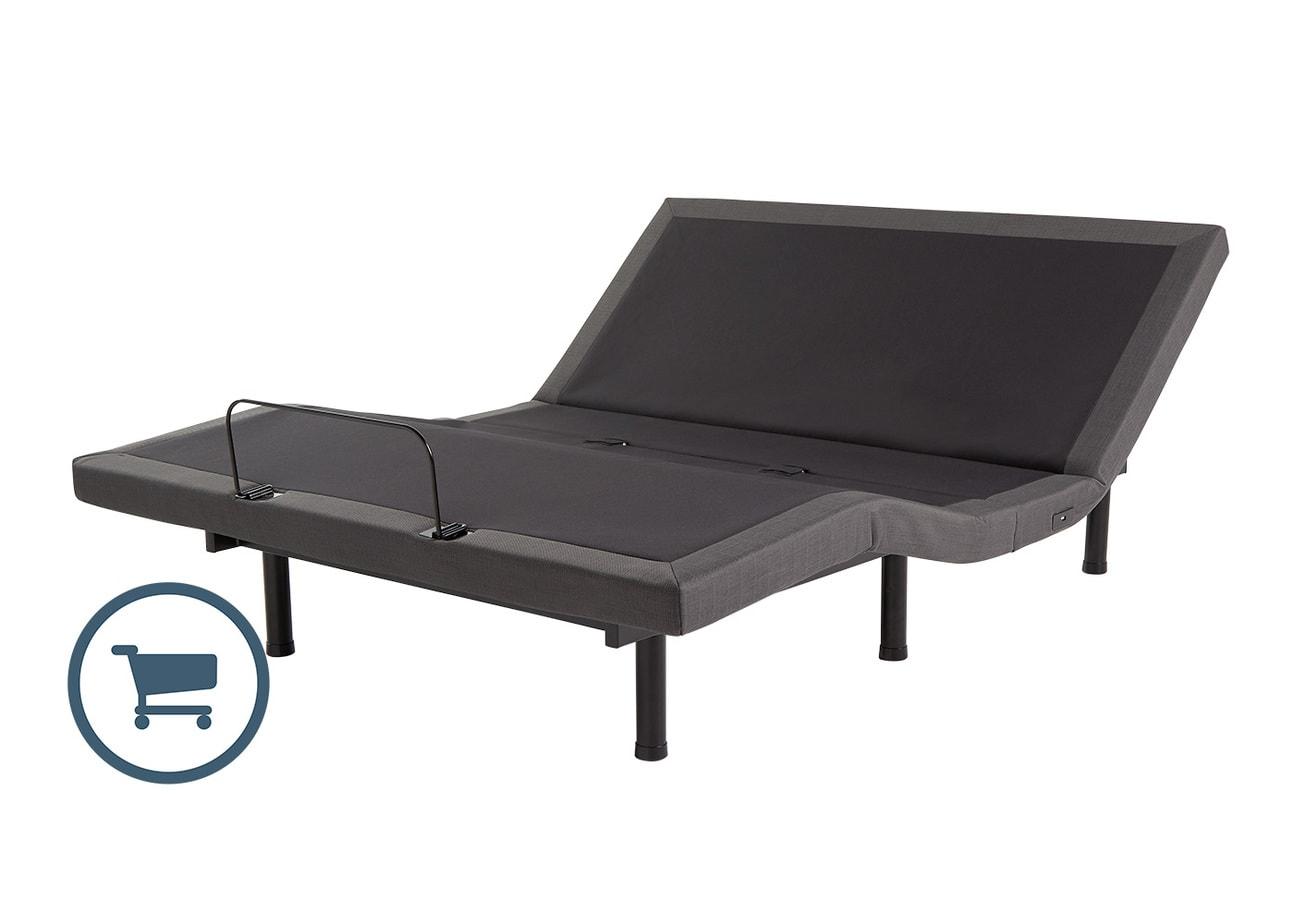 Base de lit ajustable sans fil Clarity à vibromasseurs | LA PLACE